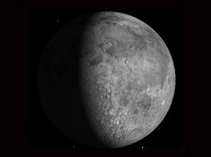 lua crescente foto NASA